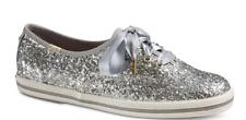 Keds x Kate Spade New York Silver Glitter Sneakers UK 6.5M EU 40 Lace Up Flats