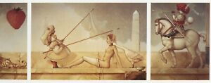Michael Parkes THE BRIDE tryptych church and state fantasy surreal art print