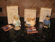 Lot of 3 Cherished Teddies Lloyd, Bernard & Bernice, Eleanor Orig Boxes ww