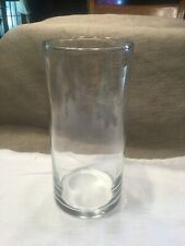 """Clear Glass Cylinder Vase ~ 7 1/2"""" Tall"""