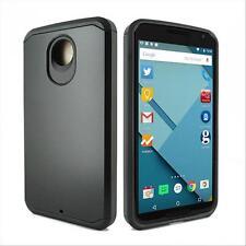 For Motorola Google Nexus 6 Hybrid Impact Box Shockproof Hard Case Cover Black