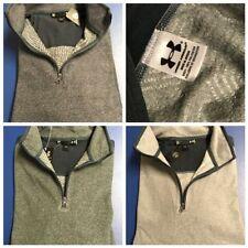 UA ColdGear® Infrared Men's Mock Neck Long Sleeve 1/4 Zip Top (UAM-Greys)