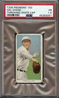 1909-11 T206 Hal Chase Throwing White Cap Piedmont 150 New York PSA 1.5
