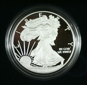 2014-W Proof American Silver Eagle S$1 1 Oz Troy .999 Fine With COA & OGP