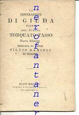 Tasso-La disperazione di Giuda-A S. Damioli di Pisogne-BRESCIA 1815 CICOGNINI