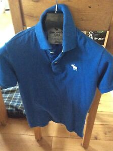 Boys Abercrombie And Fitch Blue Polo Shirt