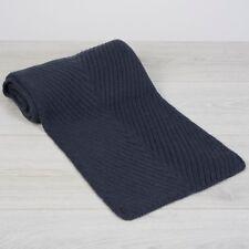 LORO PIANA 895$ Chevron Scarf In Dark Slate Blue Baby Cashmere