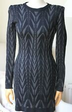 BALMAIN ARROW-PRINT MINI DRESS UK 8/10