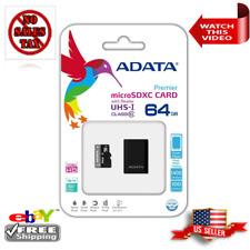 ADATA Premier 64GB microSDHC/SDXC UHS-I U1 Class 10 Memory Card w/Adapt