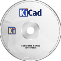 KiCad - CAD Schematic Electrical Drawing Design 2D 3D Software DVD
