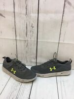 Under Armour Gray Fabric/Synthetic Lace Up Low Top Running Shoes Men's Size 9.5