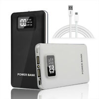 50000mAh Portable Power Bank Dual USB LED LCD External Backup Battery Charger