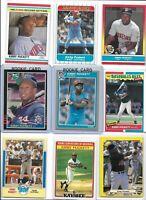 Kirby Puckett Twins Lot of (12) Different w/ 1985 Fleer & Donruss Rookies BV$45