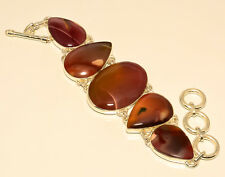 RED MOOKAITE 925 STERLING SILVER BRACELET 7-8""
