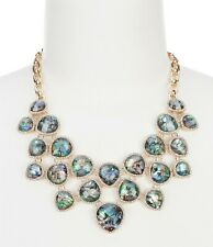 Anne Klein Gold Abalone Bib Frontal Necklace