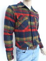 Vtg 50s 60s SEARS Men's Store MoD AtoMiC Era BeaTniK ReTrO WooL PLaiD Jacket S