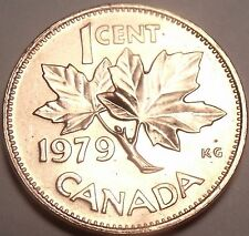 Gem Unc Canada 1979 Maple Leaf Cent~Reduced Bust~Free Shipping