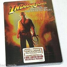 Indiana Jones & Kingdom of Crystal Skull Steelbook NEW 2 Disc Special Edition