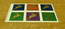 #3367b booklet pane of 5 Mint Nh #3364-67 Christmas Deers