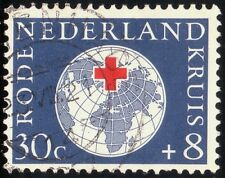 /NETHERLANDS 1957 30c(+8) Sc#B315 USED @S3159