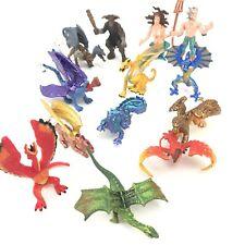 Rare Safari Toy, Fantasy and Mythology Figure Lot, Dragons, Chimera, Unicorn