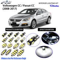 Premium VW Scirocco III MK3 Complet Intérieur DEL Ampoules Kit Remplacement Blanc