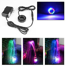US Ship Color Changing 12 LED Submersible Ring Light for Fountain Garden Pond