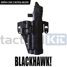 Blackhawk SIG P226 Level 3 CQC Serpa Holster & Molle Platform Black Right Hand