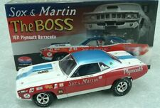 1971 SOX & MARTIN PRO STOCK PLYMOUTH BARRACUDA CUDA 426 HEMI 1:18  #1806111 NEW!