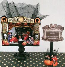 HALLOWEEN Standing THEATER Miniature altered art witches children vintage OOAK
