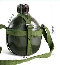 2L Thickened Chinese Military Army Canteen Water Bottle Outdoor Hydration