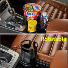 1Pc Carbon Fiber Pattern Car Rotatable Phone Drink Bottle Cup Holder Accessories