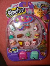 ~SHOPKINS Swapkins Season 5~12 Pack includes Exclusive Rare GOLD KOOKY COOKIE