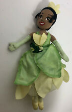 "Disney Princess and the Frog Tiana Doll Plush Toy 11"" Green Dress Stuffed"