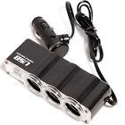 12V USB Port 3 Way ✪Car Cigarette Lighter Socket ❦Splitter Charger Power Adapter