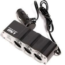 AUTO DECORATIVE ACCESSORIES 3Ways Car Cigarette Lighter Socket Splitter&USB Port