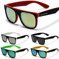 093a74a92bb13 Flat Top Round Style Men Sunglasses Mirror Lens Glasses Black White Red