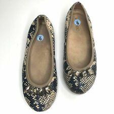 Vionic Kiska Slip On Size 6 Jeweled Toe Reptile Print Ballet Flat Comfort Shoe