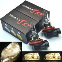 Halogen H11 55W Stock 3800K Two Bulbs Fog Light Replace Lamp Plug Play Upgrade