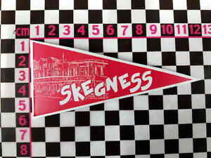 1960's Style Skegness Holiday Pennant Classic Car Window Cling Decal