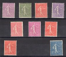 FRANCE: SERIE COMPLETE DE 9 TIMBRES NEUF* YTN°197/205 Cote: 84,00€