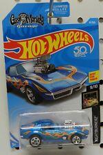 BLUE GAS MONKEY GARAGE FLAMES 1968 68 41 9 COOL CHEVY CORVETTE HW HOT WHEELS