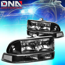 FOR CHEVY S10/BLAZER 1998-2004 BLACK/CLEAR HEADLIGHT+BUMPER SIGNAL LIGHT