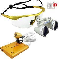Dental 3.5x 420mm BRILLENLUPE Kopflupe Lupenbrille Lupe Lens Glasses DE