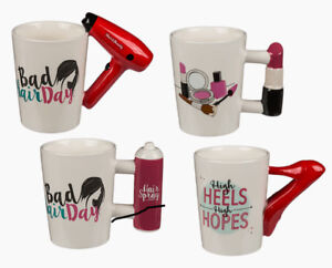 Ladies mug  hairdryer  hairspray novelty Christmas birthday Mug Gift