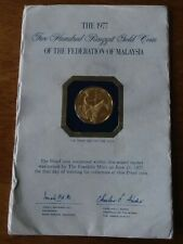 ✰ 1978 MALAYSIA $200 Ringgit GOLD Proof w/Cachet 1/5+ OZ Coin ONLY 417 MINTED! ✰