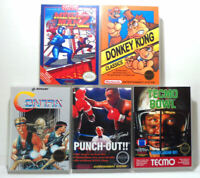 5 Hard Plastic Storage Cases with Various Artwork (see images) NES - NO Games