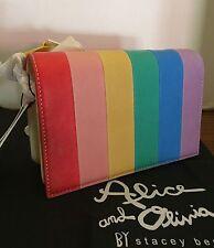 Alice + Olivia RAINBOW Clee Crossbody Bag NWT $395 Leather Handbag