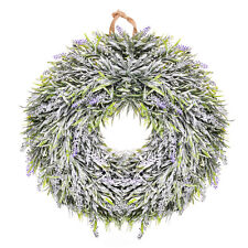 USA Lavender Flower Wreath Easter Holiday Door Wall Window Home Hanging Decor
