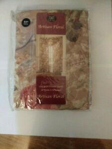Artisan Floral One Rod Pocket Panel Brand New